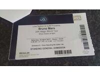 Bruno Mars 2 x tickets Adults