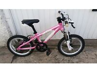 "Carrera luna 16"" Barbie Pink Mountain Bike - Very Good condition. Glasgow. Pick Up Only."