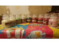 new 9 small yankee candles chrismas smells
