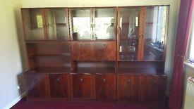 """FREE"" !! 3 piece mahogany display cabinet ""FREE"""