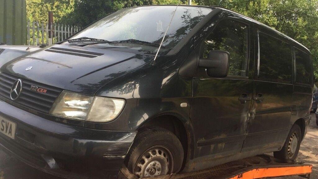 2003 Mercedes Vito 112 Cdi Panel Van 2 2 Diesel Black Breaking For