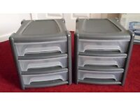 2x filing A4 3 draw storage