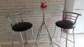 Bar table and 2 chairs