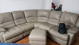 NOW SOLD.Corner sofa large with electric recliners