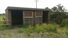 Wooden field shelter/stables for sale.