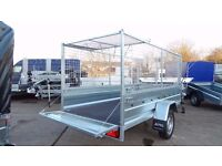 8,2ft x 4,4ft HIGH MESH/CAGE BOX TRAILER, BRAND NEW, WITH WARRANTY 750kg