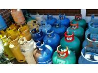 VARIOUS GAS BOTTLES FOR SALE £6 - £40 CALOR GAS BOTTLES PROPANE BUTANE