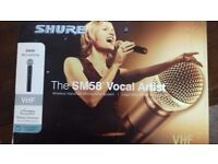 SM58 Shure Wireless Handheld Microphone System. Very good condition.