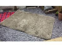 Ikea Rug. Large high pile grey/beige