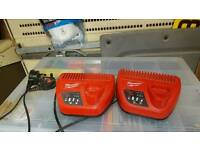 Milwaukee 12v battery charger 2 available