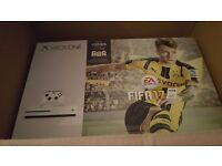 Brand new boxed Xbox one s 500gb with fifa 17 download code