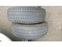 two van tyres 205 65 16c