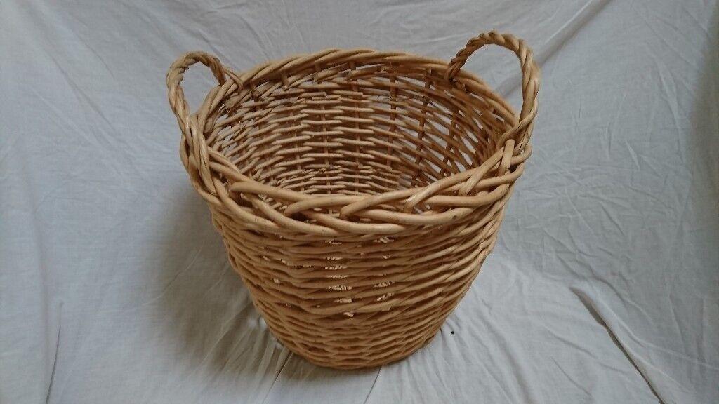 Large willow wicker basket