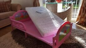 FOR SALE Peppa Pig toddler Bed. For age 18months to 4 years Never Used.