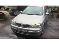 2002 Vauxhall Astra Club 8v 5dr 1.6 Petrol Grey BREAKING FOR SPARES