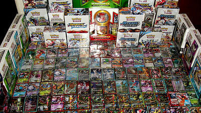 Pokemon 100 Card Lot - GUARANTEED EX or GX + 1 Pack  - Mega Full Art Rares Holos