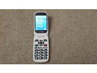 Doro 6520 Flip Mobile Phone, Graphite - brand new