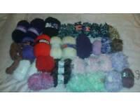 Knitting wool yarn bundle crochet
