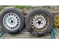 WHEEL AND TYRE 2 X 5 STUD VW, FORD 195 X 65 X 15