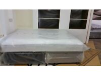 New Silentnight King Size Divan Base with 2 Drawers & Quality Memory Foam Mattress by Airsprung