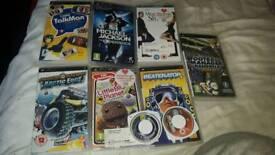 X12 psp umds x6 games x2 movies
