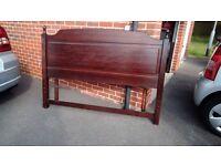Solid oak king size headboard