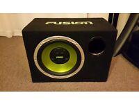 Fusion subwoofer bass box