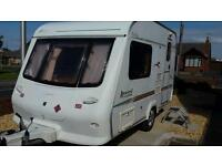 2 birth caravan elldis avanti very good condition has just about everything no damp new awning