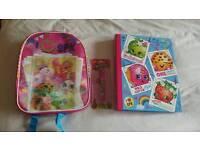 Shopkins bundle backpack pen and folder New