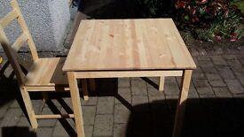 Babies cot,pine table+4 chairs.folding single bed, exterior door.78×30 pre glazed. Kitchen worktop.