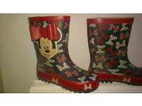 Minnie mouse wellies