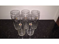 5 GLASSES FOSTERS PINT
