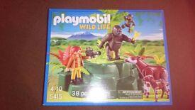 Playmobil wildlife set (5415) gorillas & okapis