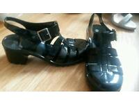 3 pairs size 5 shoes