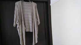 Ladies size 20 Marks & Spencer (Per una) Beige Cardigan