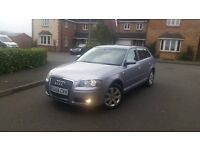 AUDI A3 2.0 TDI, 140hp , DSG paddle shift, warranty,mot, 50mpg