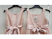 2 x pink blush bridesmaids dresses