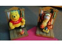 winnie pooh and tiger book shelf ends