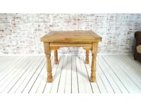 Drop Leaf Natural Extending Rustic Finish Farmhouse Dining Table