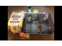 Starter set for Dwarf Hamster or similar, cage and extras