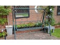 Three seater garden swing seat