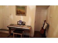 yamaha digital piano , with stand , stool , ecc..