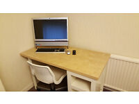 Ikea desk and chair with shelving. Amazing Condition. Only £29.00 ovno.