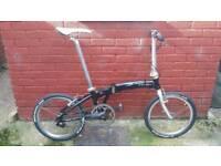 Dahon Mu EX Single Speed Folding Bike Carbon Bits Brompton