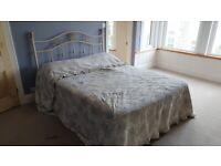 Kingsize bed divan with storage drawers, mattress and bed head