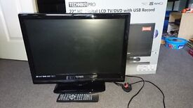 """Technika Pro 22"""" HD ready LCD TV with built-in Freeview, USB PVR and DVD player"""
