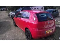 breaking fiat grande punto bright red four door all parts available just ask for prices