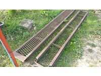 recovery truck heavy duty steel ramps or car transporter trailer ramps