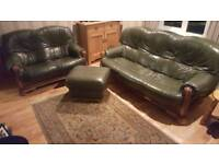 3+2 seater with footstool