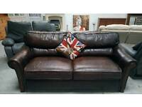 Real leather SOFA BED CAN deliver 07808222995